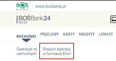 Eksport z BOŚ Bank i import do Enova