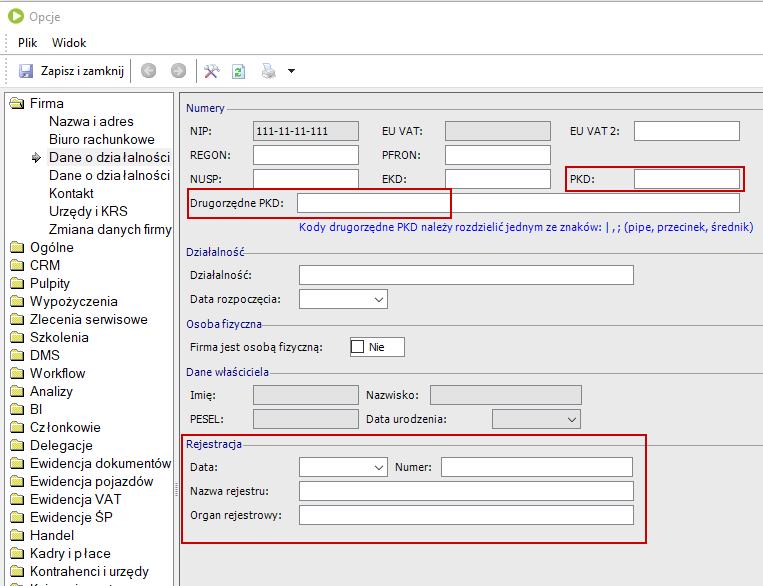 Konfiguracja programu pod e-Sprawozdania